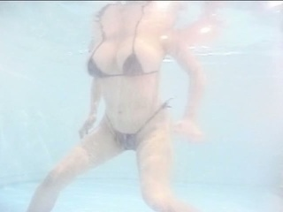 Big scones japanese milf in pool while boyfriend jerking off his dong