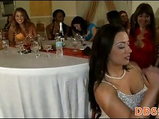 Party beauties doing blow job