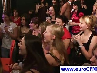 Euro slut gives oral-job in this sexy CFNM party