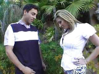 Lucky guy receives seduced by a busty mom