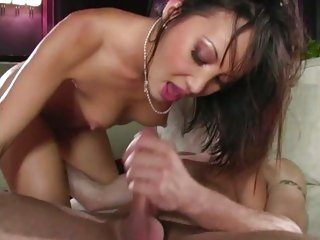 Saucy asian Katsumi gets a mouth full of hot ball batter