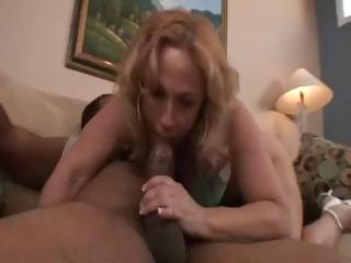 Chubby blonde babe, Summer, gets a big dark ramrod in her ass