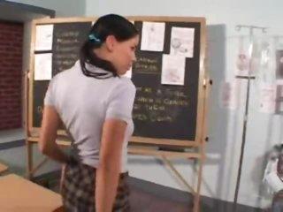 Her teacher wants a oral-stimulation